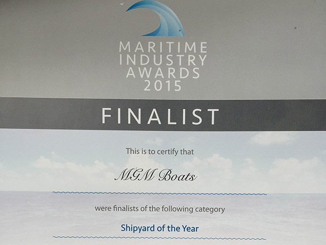 Finalist- Shipyard of the Year - Maritime Industry Awards 2015